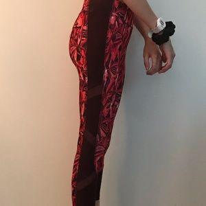 Mesh red leggings